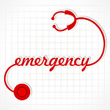 Stethoscope make emergency word