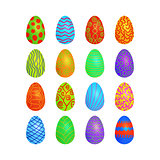 doodle vector easter eggs set