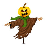 Scarecrow for Halloween isolated