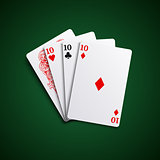 Poker hand cards three of a kind combination template