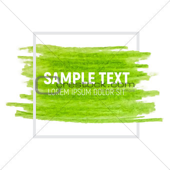 Green Paint Textured Art Illustration. Vector Illustration