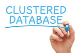 Clustered Database Blue Marker