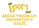 The Boom Font - comic book, cartoon style alphabet.