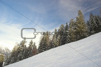 Skiing area in Soell (Austria)