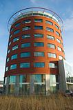 Modern round-shaped office building