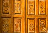Golden Wood Church Door Mexico