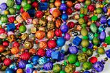 Colorful beads background