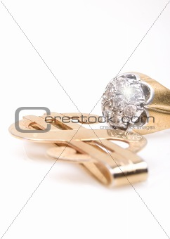 Money clip and diamond ring