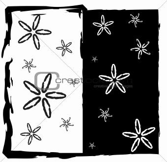 Black White Abstract Frame
