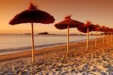 Umbrellas by the sunset