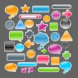 crystal colored icons and buttons