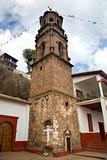 Church Steeple Janitizo Island Patzcuaro Lake Mexico