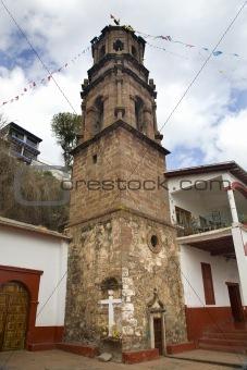 Church Steeple Janitizo Island Patzcuaro Lake Mexico
