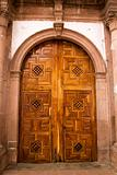 Church Door Janitzio Island Mexico