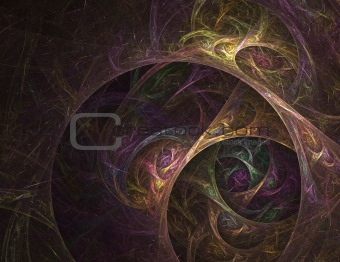 Abstract knotted fractal