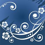 dark blue flower background