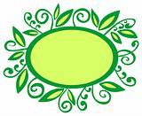 green vegetative frame