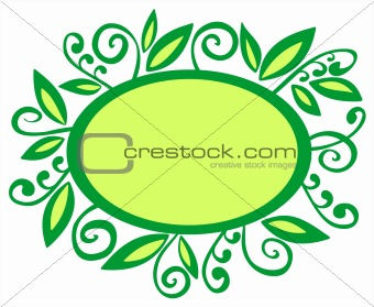 green vegetative frame