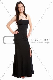 elegant woman in black