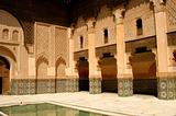 Patio at Ben Youssef Medrassa in Marrakech (Morocoo)