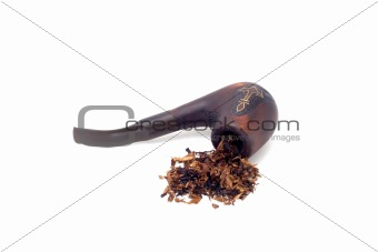 tobacco-pipe and heap of tobacco