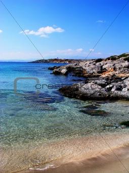 Greek beach on Dia island, Crete.