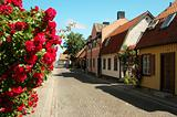 Gotland, Visby, street scene.