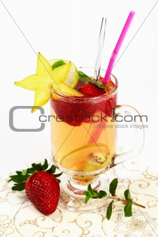Fresh summer fruit tea