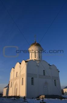 Church on a sunset