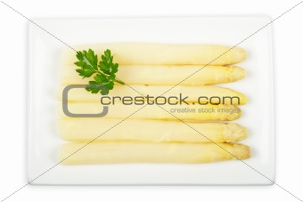 Asparagus with parsley