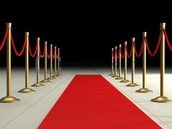 Image 729101 Velvet Ropes And Red Carpet From Crestock