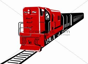 Train running on tracks