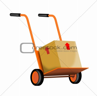 Hand cart with box