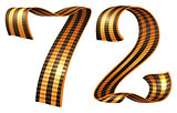 George ribbon shape number 72 anniversary Victory Day