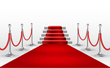 Red carpet with white stair. EPS10