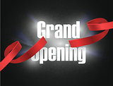 Grand opening , background with lettering sign. Template banner, flyer, design element, decoration for opening event