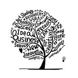 Business idea tree, sketch for your design