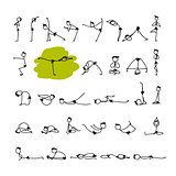 Yoga set, sketch for your design