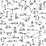 Yoga set, seamless pattern for your design