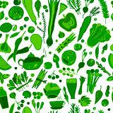 Green vegetables, detox. Seamless pattern design