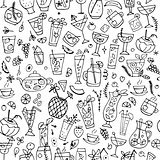 Cocktails collection, seamless pattern for your design