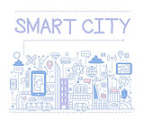 Smart City. Vector Illustration