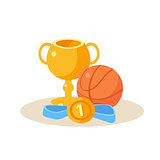 Sport Equipment. Education Design Vector Illustration