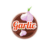 Garlic Spice. Vector Illustration.