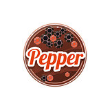 Pepper Spice. Vector Illustration.