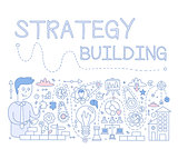 Strategy Building. Vector Illustration