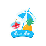 Summer Beach Bar. Vector Illustration