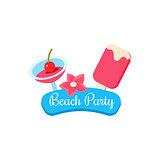 Beach Party. Summer Vacation. Vector Illustration