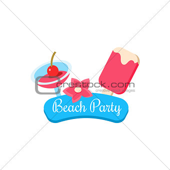 Beach Party. Summer Vacation. Vector Illustration