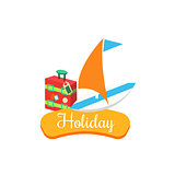 Holiday. Summer Vacation. Vector Illustration